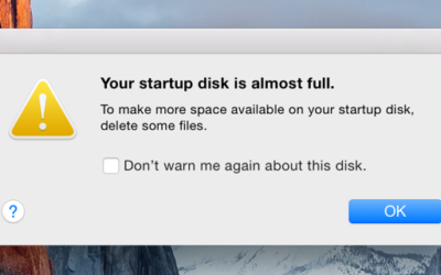 Startup Disk Full on Mac OS