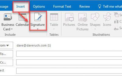 Create Email Signature on Outlook