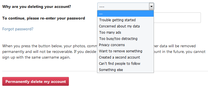 How To Delete An Instagram Account - My Computer Works