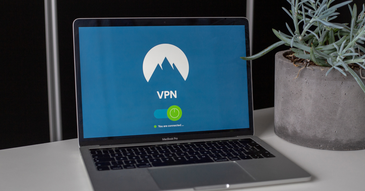 laptop with VPN connection