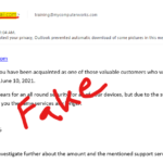 fake email invoice