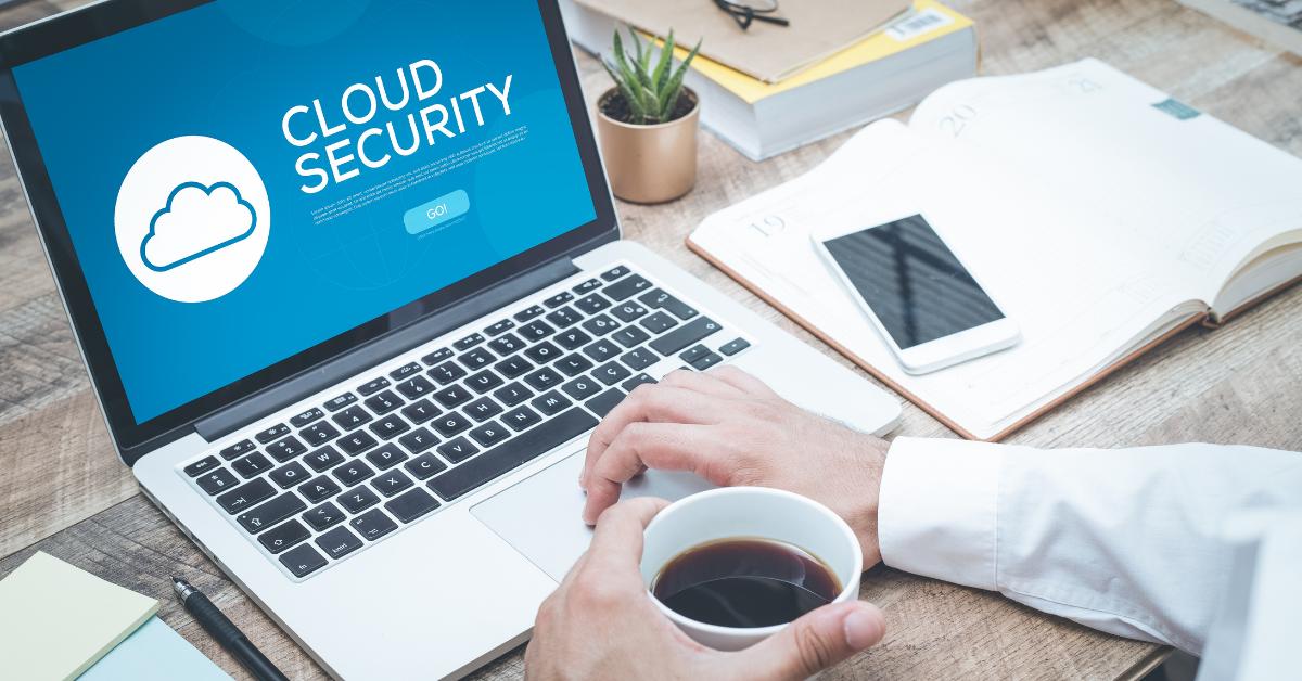 cloud security on laptop